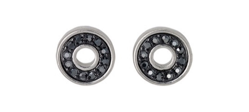 Pilgrim black stud earrings