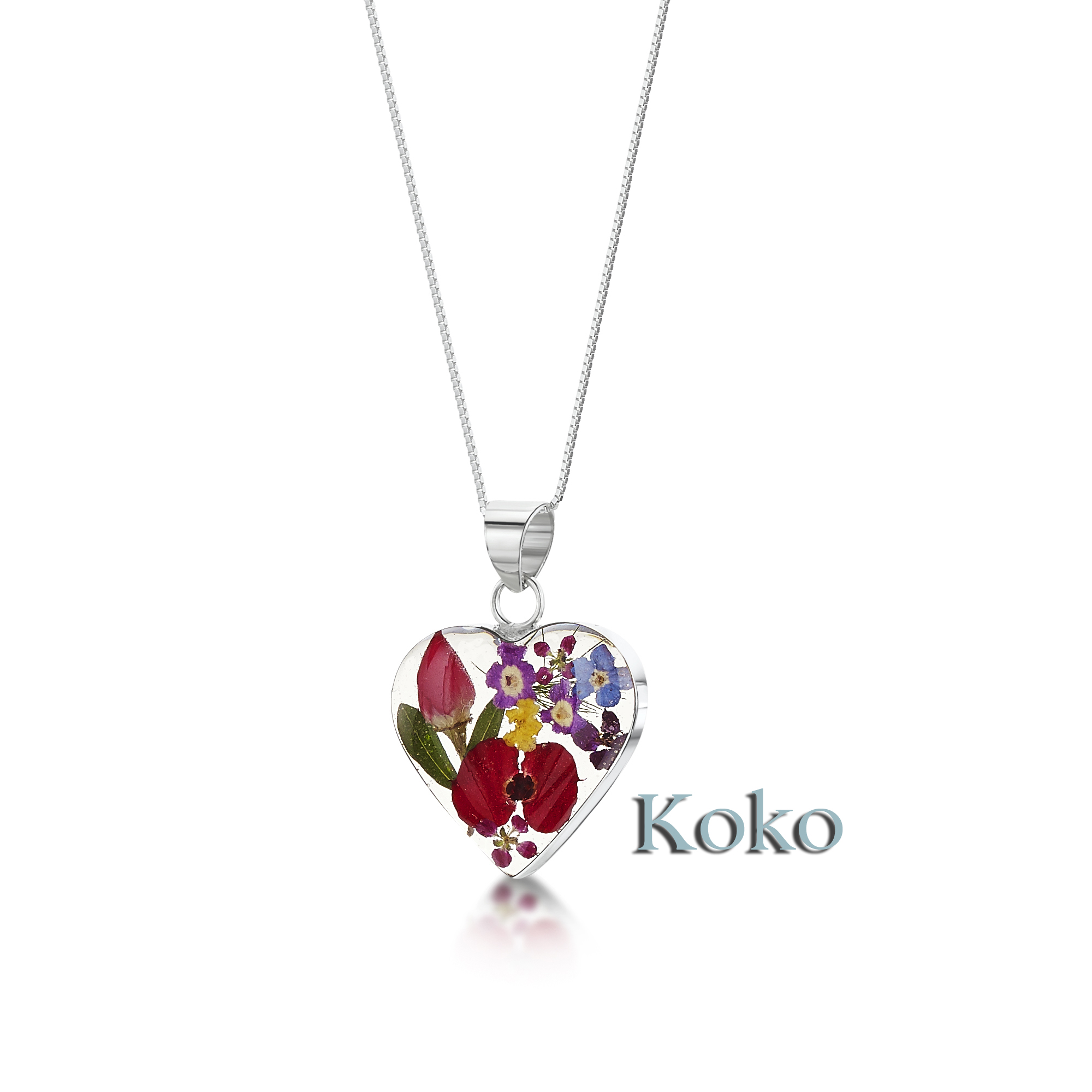 Real flower jewellery UK