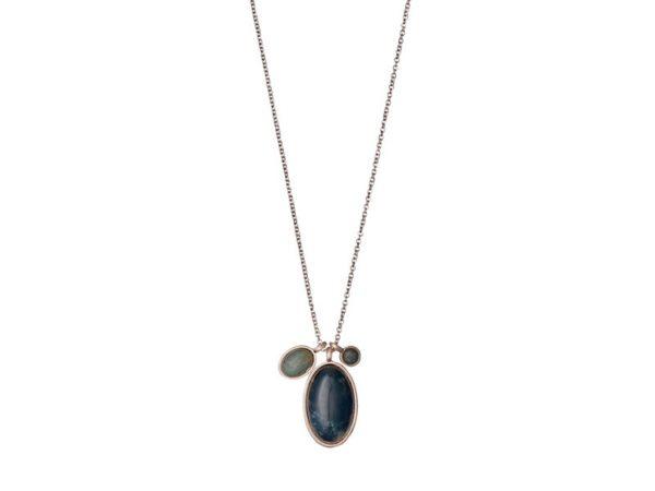 Pilgrim Rose gold jade necklace