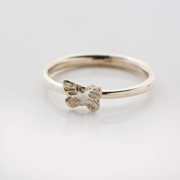 silver butterfly ring