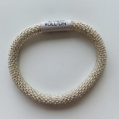roll on bracelet white