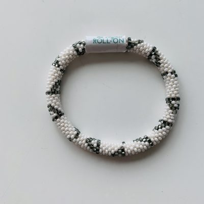 roll on bracelet grey