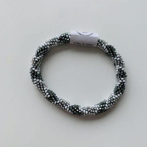 roll on bracelet grey