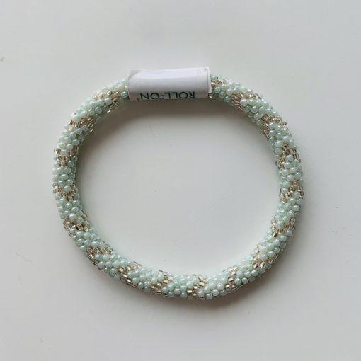 roll on bracelet green white