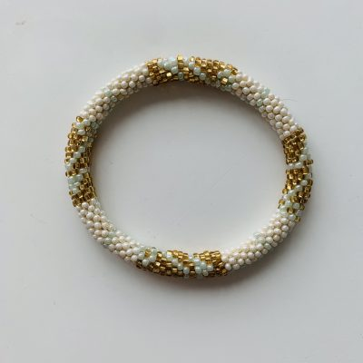 roll on bracelet green gold