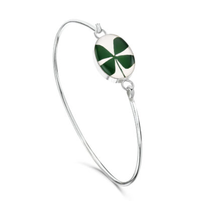 four leaf clover bangle