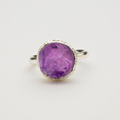 amethyst raw ring